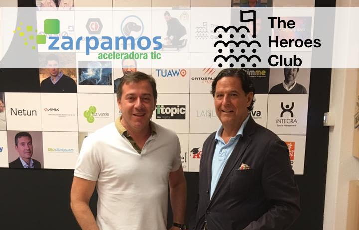 Manuel García, Ceo de Zarpamos Aceleradora y Aurelio Garcia de Sola, Presidente de The Heroes Club